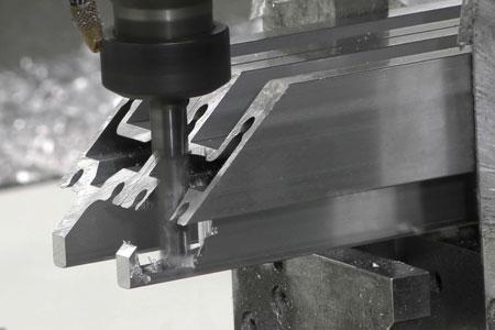 CNC fabrication of aluminium extrusion
